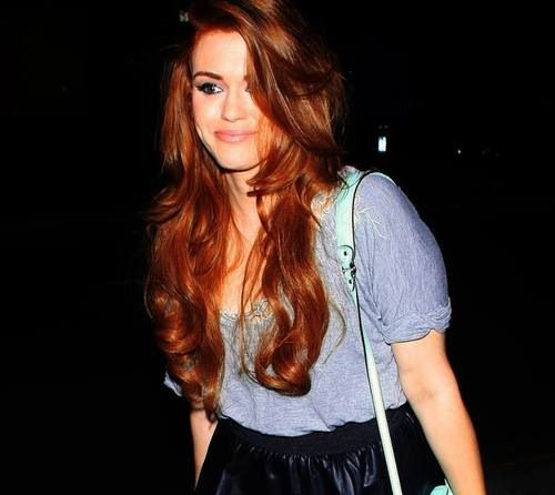 Holland Roden. Her hair color <3