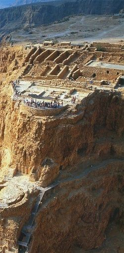 Masada at the Dead Sea - an ancient fortification (31 BC-70 AD):