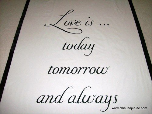 Love quote in black and white