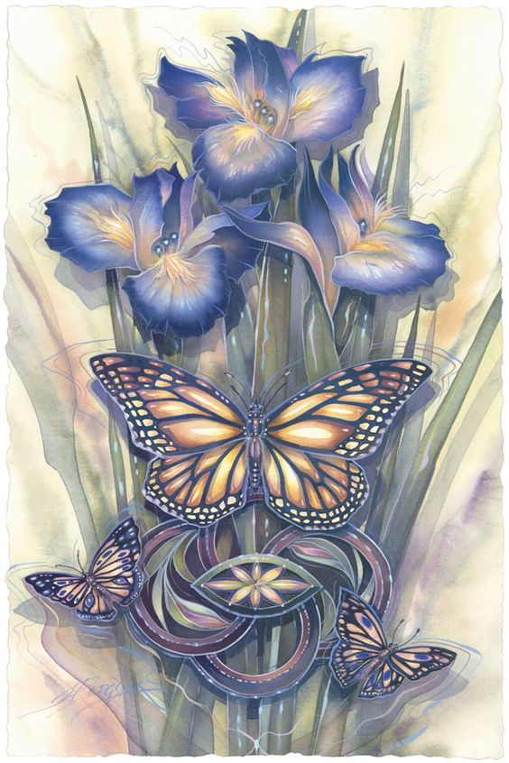Bergsma Gallery Press :: Paintings :: Insects & Amphibians :: Butterflies :: A New Day Has Come - Prints: