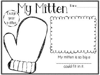 activity my mitten is so big a could fit in it animals and mitten ...