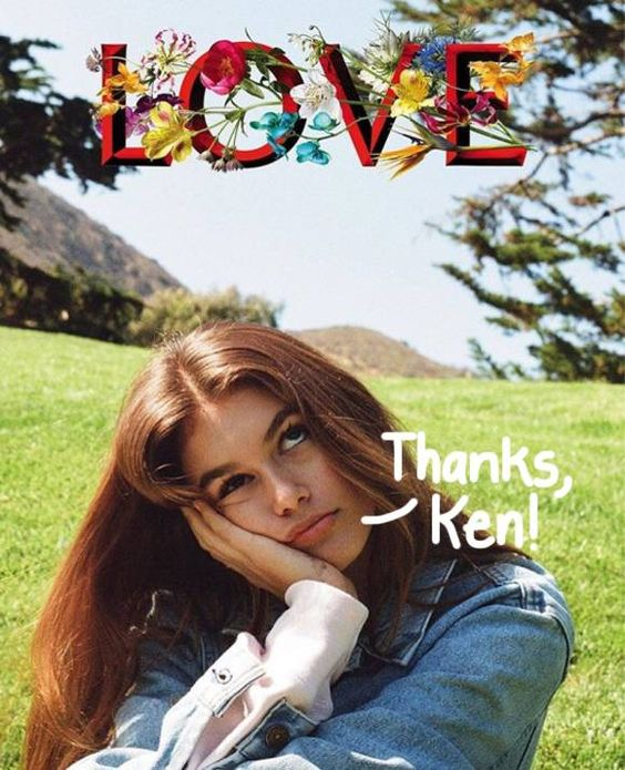 Kaia Gerber gets shot by Kendall for LOVE Mag.