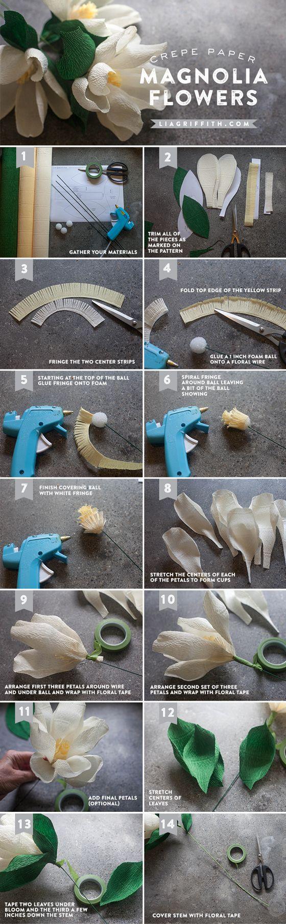 DIY Paper Magnolia Flower: