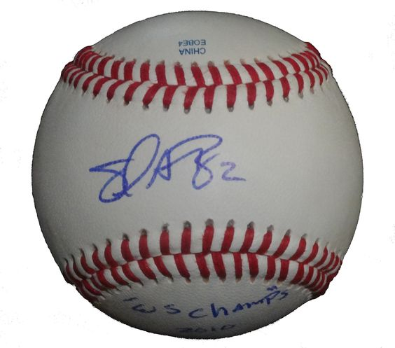 SF Giants Emmanuel Burriss signed Rawlings ROLB leather baseball w/ proof photo.  Proof photo of Emmanuel signing will be included with your purchase along with a COA issued from Southwestconnection-Memorabilia, guaranteeing the item to pass authentication services from PSA/DNA or JSA. Free USPS shipping. www.AutographedwithProof.com is your one stop for autographed collectibles from San Francisco Bay Area Sports teams. Check back with us often, as we are always obtaining new items.