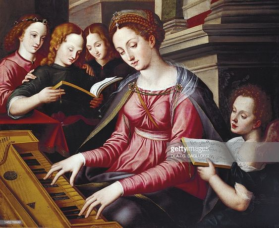 News Photo : St Cecilia at the spinet, by Sandro Botticelli...