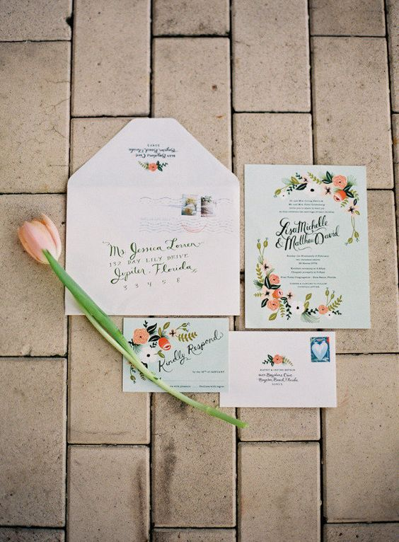 garden invites by the ever fabulous http://riflepaperco.com/  Photography by jessicalorren.com
