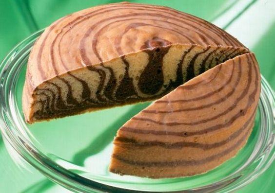Veganer Zebrakuchen                               -                                  Ein Zebrakuchen ohne Milch und ohne Ei