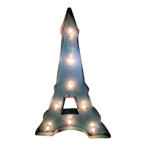 Shine brighter with our Eiffel Tower Vintage Marquee Light Symbol! Each of our Light Up Marquee Symbols are great for weddings, restaurants, bars, events, home decor, or even photo/set props. - Dimens