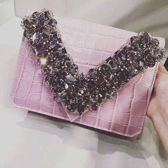 Tonight is pink! #bagoftheday #itbag #pink #crocodile #clutch #dinnertime #chic #bestseller #bestshop #top #fashion #fblogger #newcollection #newinstore by gedebe