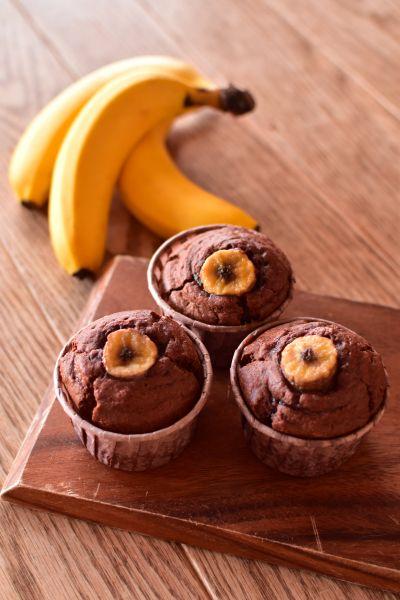 マフィン チョコ バナナ