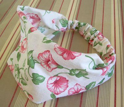 bandeau foulard petite fille accessoire cheveux fabriquer loisirs cr atifs bandeau. Black Bedroom Furniture Sets. Home Design Ideas
