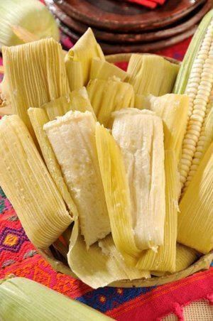Tamales dulces de elote. Mom made these all the time growing up.