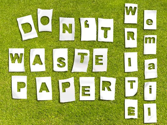 Don't waste paper write email  graphic design by Andrzej Poniatowski, via Behance
