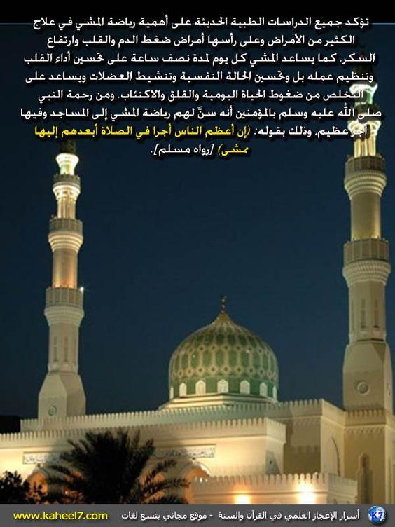 صورة وآية: كثرة الخطا إلى المساجد: