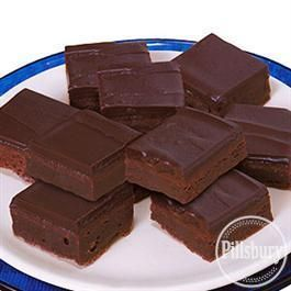 #Chocolate Ganache Fudge #Brownies from Pillsbury® Baking