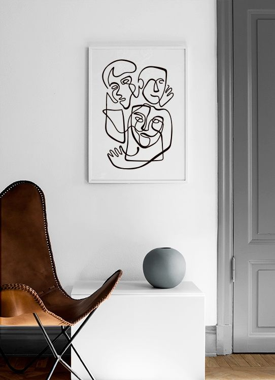 Abstract Line People No1 Poster Abstract Lines Inspirational Wall Art Online Wall Art