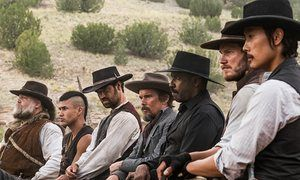 Denzel Washington (third from right) in The Magnificent Seven … 'The average person who's paying to see it is just looking for a good time.'