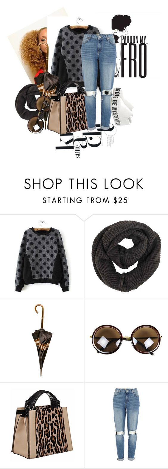 """""""Pardon my Afro n my outfit"""" by naturallydee ❤ liked on Polyvore featuring Loewe, Caroline De Marchi, River Island, women's clothing, women's fashion, women, female, woman, misses and juniors"""