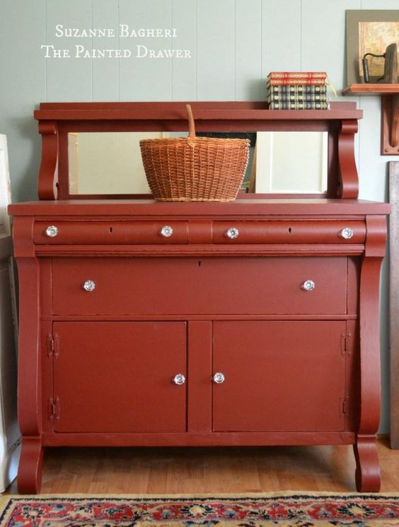 Rembrandt Red Empire Chest | General Finishes Design Center