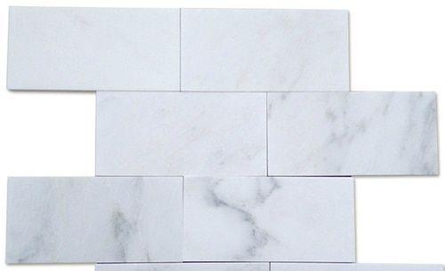 Carrara 3 Quot X 6 Quot Polished Subway Marble Tile On Sale 6 98 Per Square Foot Carrara Marble Tile Carrara Marble Tile