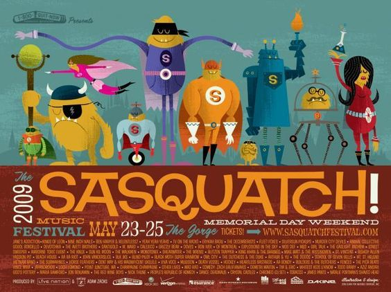 Sasquatch music festival: Concert Festival Posters, Posters Prints, Posters Design, Music Posters, Art Posters, Music Festivals, Concert Posters, Design Posters, Music Festival Posters