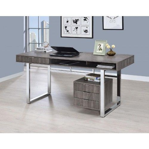 Coaster Furniture Weathered Gray Writing Desk 801897 Wooden Writing Desk Grey Writing Desk Furniture