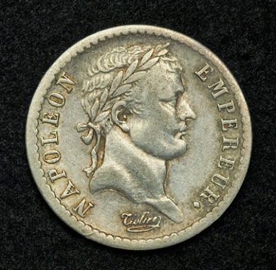 French Napoleon Coins (1st Empire) Demi Franc - ½ Franc Silver Coin of 1812, Napoleon I. French coins.