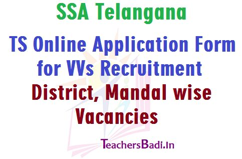 TS Online Application Form for VVs Recruitment and District - attendance allowance form