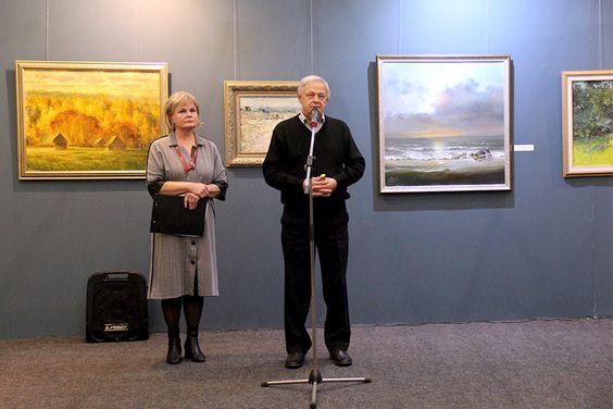 Выступление Виктора Елфимова на открытии выставки