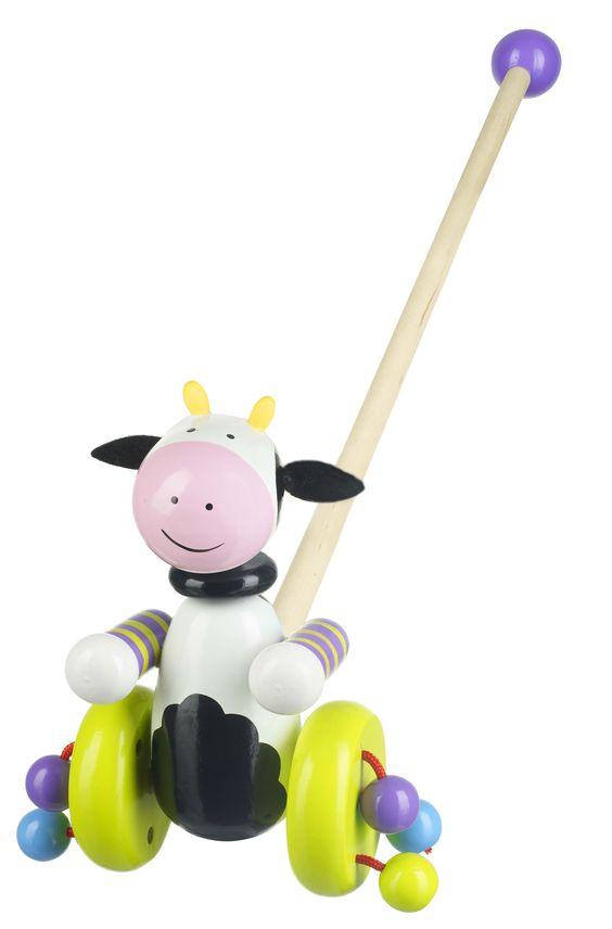 Orange Tree Toys - Cow Push Along