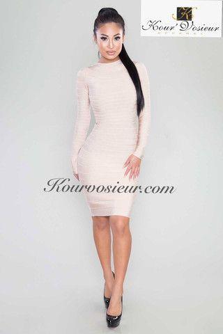 Angelica bandage dress (White) - Kourvosieur  - 1