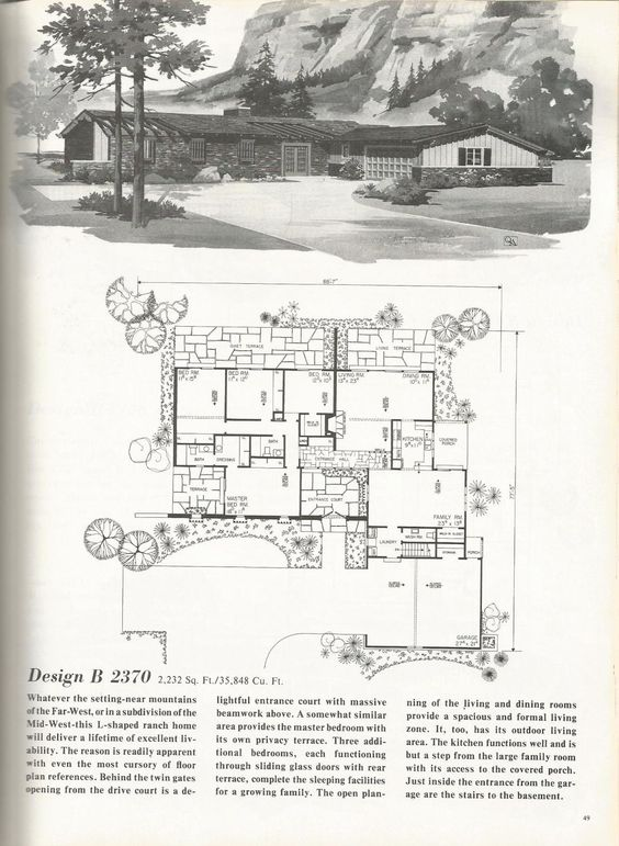 vintage house plans  western ranch houses   Vintage houseplans    vintage house plans  western ranch houses
