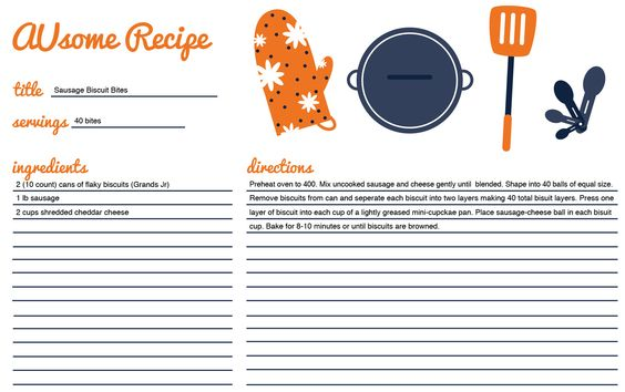 A recipe from our wonderful design student, Gina! War Eagle! Keep them coming!