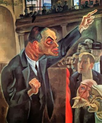 The Agitator (1920) by Conrad Felixmüller (Weimarart)