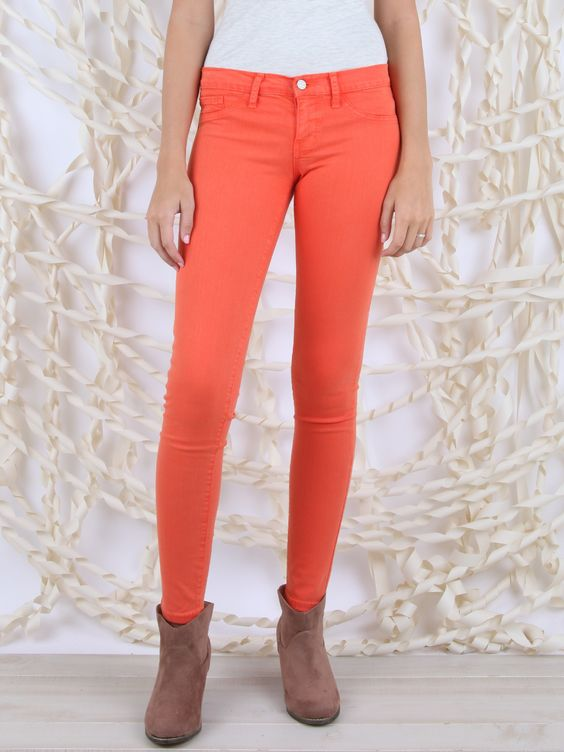 Orange Colored Denim - Sale
