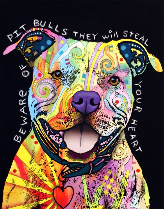 """Beware Of Pit Bulls"" by Dean Russo."
