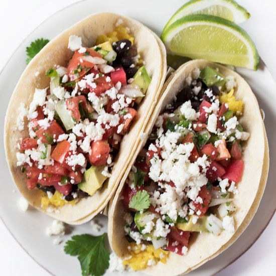 These vegetarian Black Bean Tacos are healthy, filling, and packed ...