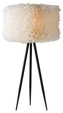 Flighty Feathers Table Lamp contemporary-table-lamps