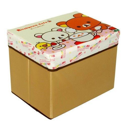 Home Furniture » [Rilakkuma Cafe] Rectangle Foldable Storage Ottoman / Storage Boxes / Storage Seat