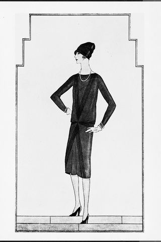 První černé malé šaty od Coco Chanel, Vogue, 1926