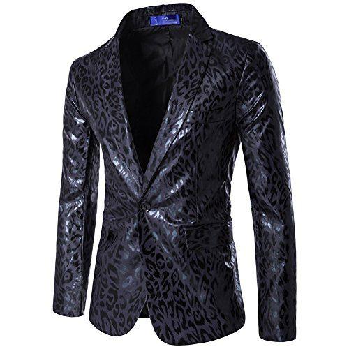Jacket Léopard Homme Slim Fit Imprimé De Costume Veste yYb6g7f