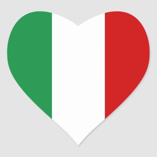 Heart Stickers Flag Of Italy Italian Il Tricolore Zazzle Com In 2020 Sticker Flag Italy Flag Heart Stickers