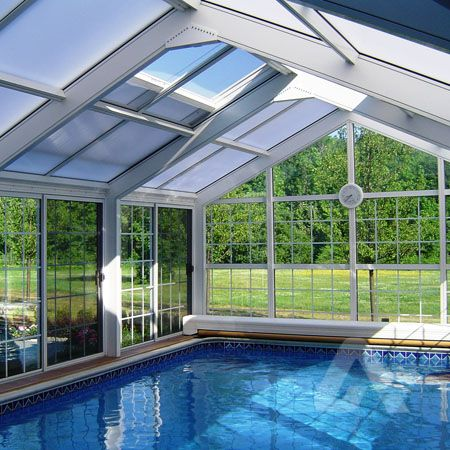 Pool enclosures pools and diy and crafts on pinterest - Swimming pool enclosures ...
