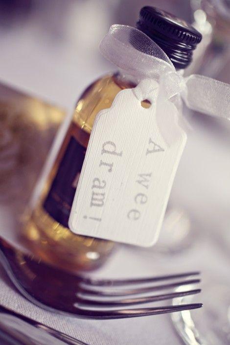 Whiskey Wedding Favours. Zouch & Lamare Ltd www.zouchandlamare.com Favours