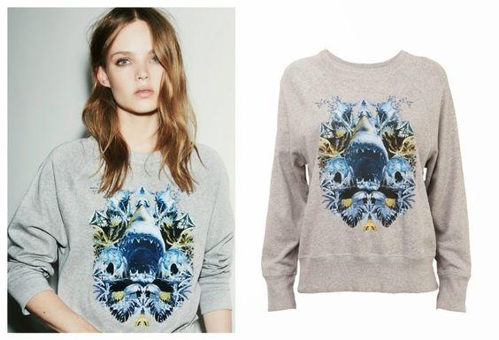Statement sweater with shark print bylala Berlin. http://t-h-i-n-g-s.blogspot.com