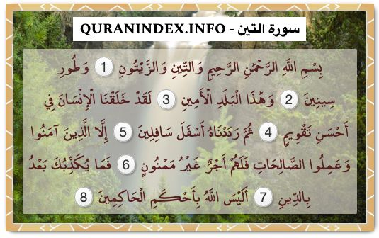 95 Surah At Tin سورة التين Quran Index Search In 2020 Listen To Quran Quran Verses Quran