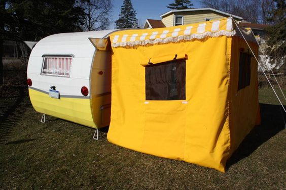 New Awning Add-A-Room for a Vintage Trailer