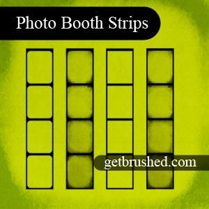 photoshop brushes to make your own photo booth strips - love!