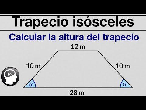 Calcular La Altura Del Trapecio Isosceles Cuyos Lados Miden 10 12 Y 28 Teorema De Pitágo Teorema De Pitagoras Enseñanza De La Geometría Problemas Matemáticos