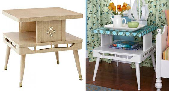 Vieux meuble transformé en table d'appoint très déco
